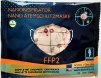 DĚTSKÝ respirátor Balerina S, FFP2, vzor 183, 1ks