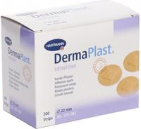 DermaPlast sensitive spots kulaté pr.22 mm, 200ks