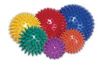 Masážní míček ježek Ø 8cm, žlutý