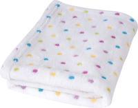 Dětská deka BabyMatex Milly - bílá s puntíky