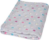 Dětská deka BabyMatex Milly - šedá s puntíky