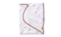 Dětská deka BabyMatex Bamboo - bílá, hnědý lem
