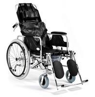 Invalidní vozík toaletní polohovací Timago SPECIAL (FS 654LGC), 46 cm