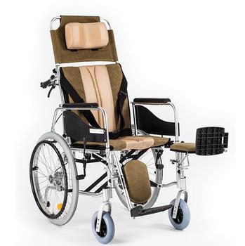 Invalidní vozík polohovací Timago ALH008 45cm, barva hnědo-béžová, nosnost 100kg - 1