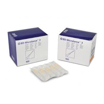 Injekční jehla B-D 1,1 x 40, 19G - krémová / 100 ks
