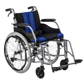Invalidní vozík Timago Premium (C2600) 48 cm / černo-modrý - 1