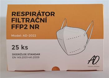 Respirátor AD-2022 FFP2, 25 ks  - 1