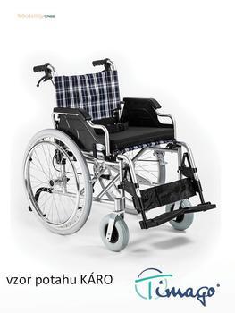 Invalidní vozík Timago FS 908 LJQ - 46 cm / káro - 1