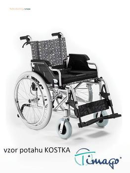 Invalidní vozík Timago FS 908 LJQ - 46 cm / kostka / 100kg - 1