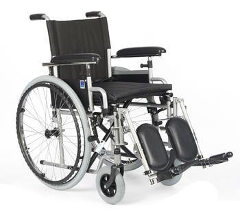 Invalidní vozík Timago H011 PK/ELR 46 cm s regulací stupaček + plná kola - 1