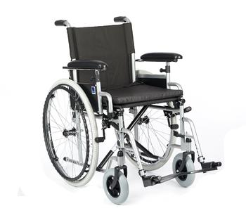 Invalidní vozík Timago H011 43 cm / stříbrná, nosnost 115 kg - 1