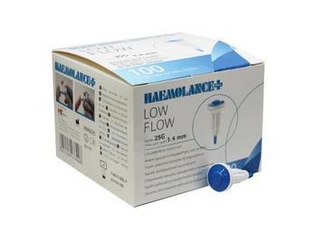 Haemolance Plus Low Flow modrá 100 ks  - 1