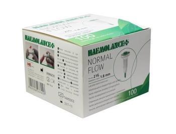 Haemolance Plus Normal Flow  zelená 100 ks  - 1
