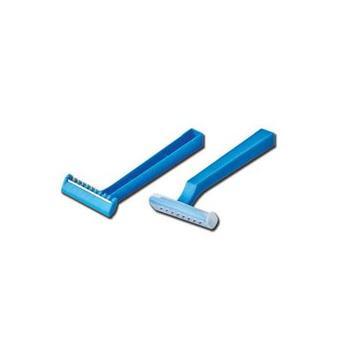 Holící strojek jednorázový modrý