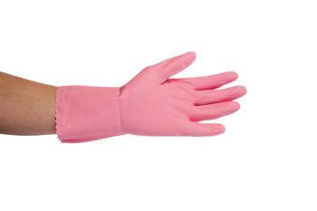 Rukavice úklidové Jana růžové S - 1pár
