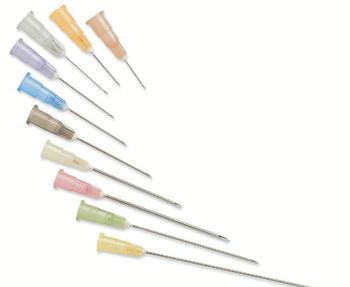 """Injekční jehla KDM 0,5 x 16, 25G 1"""" -  oranžová / 100 ks"""