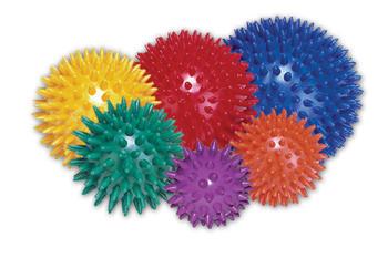 Masážní míček ježek Ø 8cm, žlutý  - 1