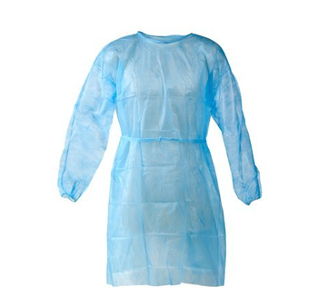 Plášť návštěvnický 115 x 137cm sv. modrý  immunity (á 10ks)