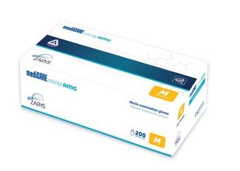 Rukavice antimikrobiální nitril bez pudru L 200 ks mediCARE AMG L / 200ks - 1