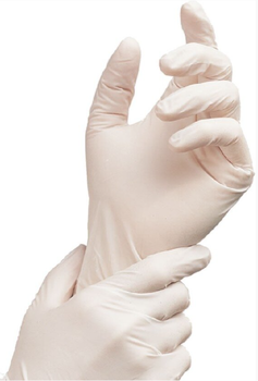 Rukavice latex. nepudrované vel. L  100 ks  - 1