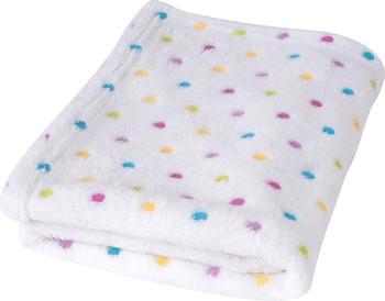 Dětská deka BabyMatex Milly - bílá s puntíky  - 1