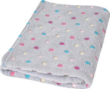 Dětská deka BabyMatex Milly - šedá s puntíky  - 1