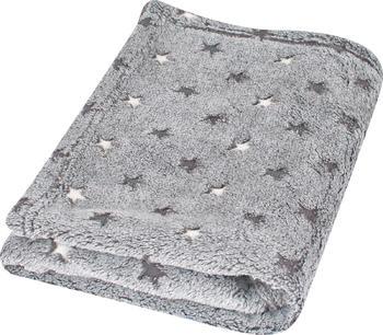 Dětská deka BabyMatex Milly - šedá s hvězdičkama  - 1
