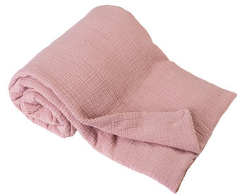 Dětská mušelínová deka BabyMatex - růžová  - 1