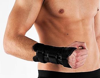 Ortéza zápěstí s výztuhou levá, S (obvod zápěstí 15-17cm)