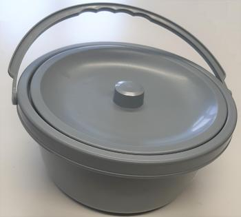 Nádoba toaletní plastová s víkem  - 1