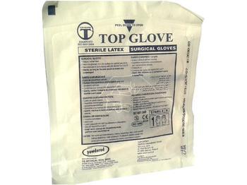 Rukavice chirurg. sterilní s pudrem TOP GLOVE 6 / 50 párů - 1