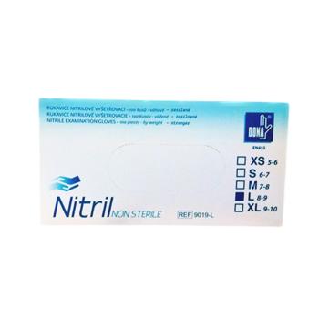 Rukavice nitril, zesílené vel. S 100 ks
