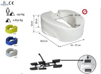 Nástavec na WC 10cm CLIP Up bílý  - 2