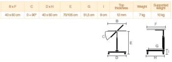 Stolek přilůžkový Easy, barva - buk - 2