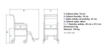 Sprchovací vozík Timago  - 2