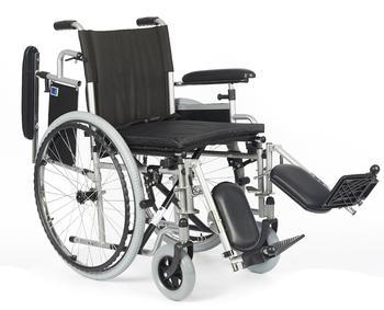 Invalidní vozík Timago H011 PK/ELR 46 cm s regulací stupaček + plná kola - 2