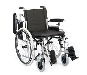 Invalidní vozík Timago H011 43 cm / stříbrná, nosnost 115 kg - 2