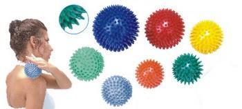 Masážní míček ježek Ø 8cm, žlutý  - 2