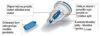 Haemolance Plus Low Flow modrá 100 ks  - 2