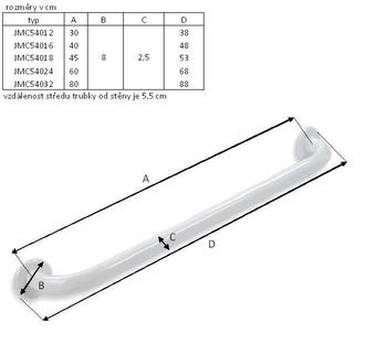 Madlo kovové 80cm  - 2