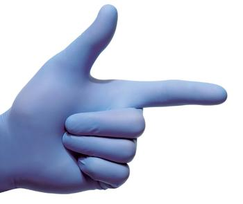 Rukavice antimikrobiální nitril bez pudru XS 200 ks mediCARE AMG XS / 200ks - 2