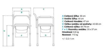 Toaletní křeslo KT-S 668  - 2