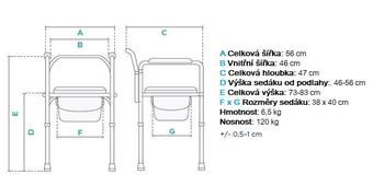 Toaletní křeslo skládací KT 023B  - 2