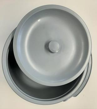 Nádoba toaletní plastová s víkem  - 2
