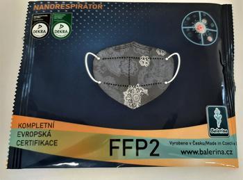 Respirátor Balerina FFP2, vzor 48, 1ks  - 3