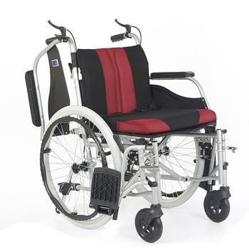 Invalidní vozík Timago WA C2600 46 cm / černo-bordó - 3