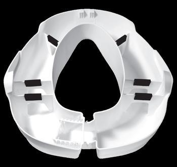 Nástavec na WC 10cm CLIP Up bílý  - 3