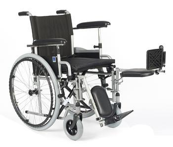 Invalidní vozík Timago H011 PK/ELR 46 cm s regulací stupaček + plná kola - 3