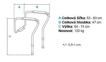 Podpěra na WC dvoubodová  - 3