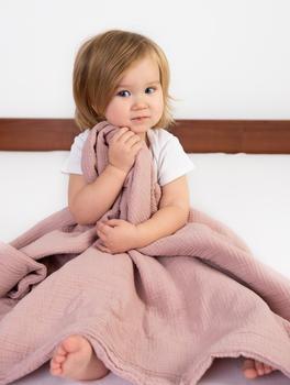 Dětská mušelínová deka BabyMatex - růžová  - 3